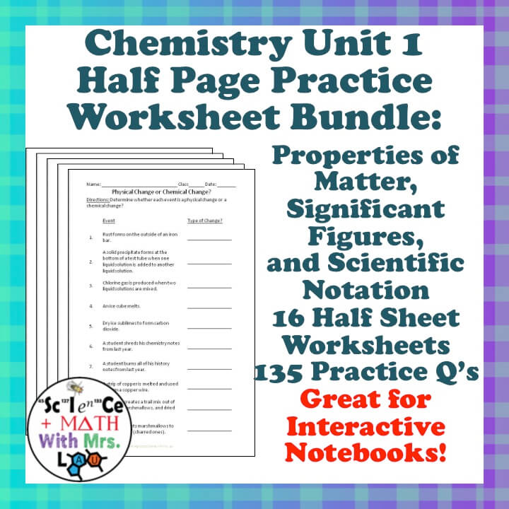 Chemistry - Science and Math with Mrs. Lau